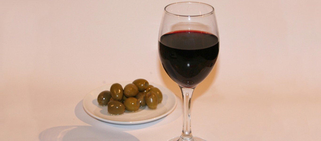 Wine, Olives and Art Image