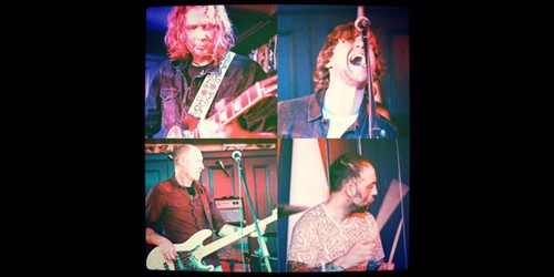 collage of The Revivals band members performing