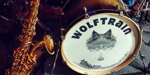 Drum with Wolftrain logo on the front