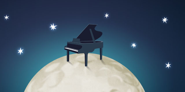 First Piano on the Moon Image